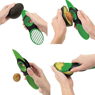 3in1 Multifunction Avocado Slicer Peeler Cutter Avocado core Remover Tools New …