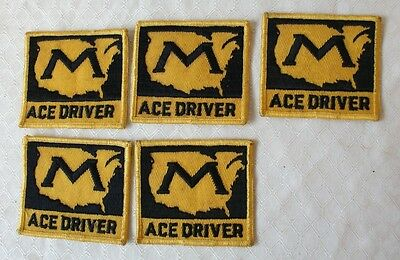 "Markel Ace Driver 5 Patches Truck Driver 3 1/4"" x 2 7/8"" Unused"