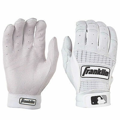 Franklin Neo Classic II Adult Baseball Batting Gloves Pearl/White Large