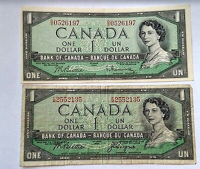 Pair of $1Banknotes of Canada