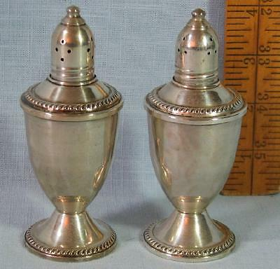 Duchin Sterling Creation Weighted  Glass Lined Salt & Pepper Shakers