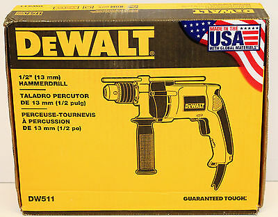 "NEW DeWalt DW511 1/2"" (13mm) 7.8 Amp VSR Hammerdrill"