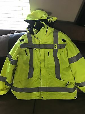 5.11 Tactical 48033 3-in-1 High Visibility Reflective Parka X-Large POLICE