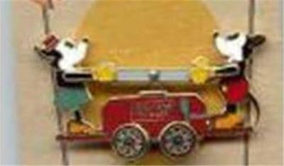 MICKEY & MINNIE on HAND CAR DISNEY'S VINTAGE COLLECTION #2 LE 2500 POM PIN WDW