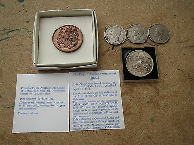 Collection lot of Zealand crown & half crown, x 5