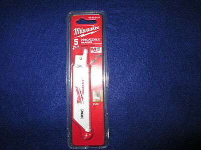 "Milwaukee 49-00-5414 M12 4"" Hackzall Blades Pack Of 5 Pvc New"