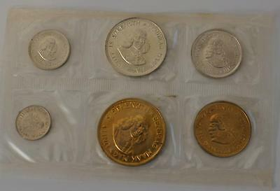 Coins of South Africa 1960-1964 South Africa 6 coin Silver and Brass Proof Set
