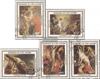 The Ivory Coast 777-781 fine used / cancelled 1983 Easter: Paintings of Rubens