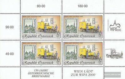 Austria 2270I Sheetlet (complete issue) used 1998 WIPA 2000