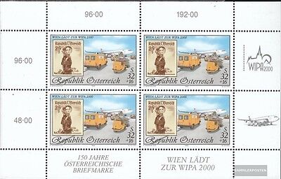 Austria 2292I Sheetlet (complete issue) used 1999 WIPA 2000