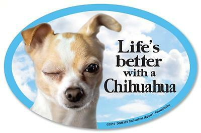 Life's Better With A Chihuahua Dog Car Fridge Plastic Magnet