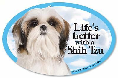 Life's Better With A Shih Tzu Dog Car Fridge Plastic Magnet