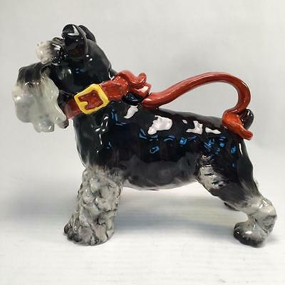 Grey Terrier Schnauzer Dog Teapot Ceramic Blue Sky 14286