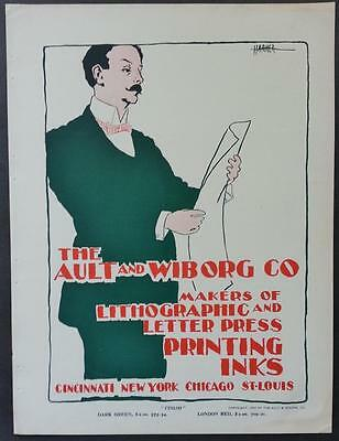 "1898 Ault & Wiborg Co. Original Advertising Print  ""Finish""  by Harker"