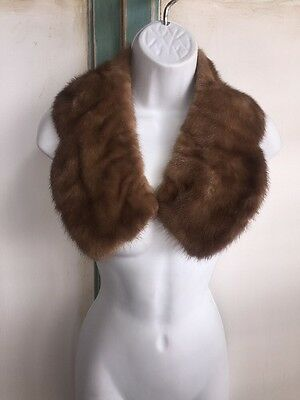 Vintage Mink Fur Collar Wrap