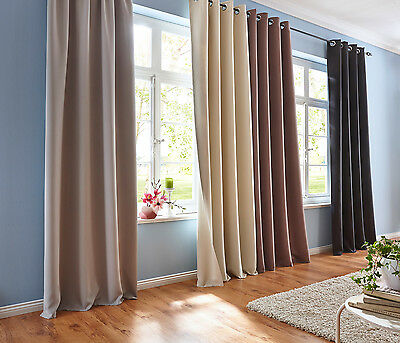 Modern Blackout Window Sheer Curtains Panels Darkening Living Room Home Decor