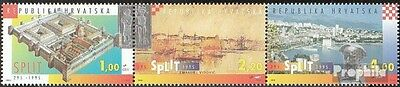 Croatia 314-316 triple strip fine used / cancelled 1995 City Split