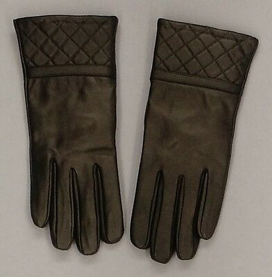 Excelled Ladies Sz M Touch Tip Thinsulate & Fleece-Lined Leather Gray Gloves NEW