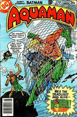 AQUAMAN #61 VG/F, Don Newton art, small hole on f/c, stains, DC Comics 1978