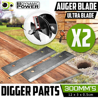 2 X 300mm Augers Ultra Blade for Post Hole Digger Drill 20mm Drive Blades