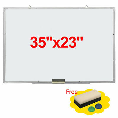 """35""""x23"""" Single Side Magnetic Writing Whiteboard Office Dry Erase Board New"""