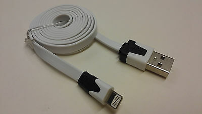 USB DATA SYNC CHARGER FLAT CABLE LEAD FOR iPhone 5 5S