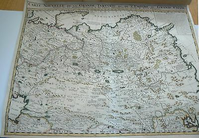 A Large, Beautiful, Hand Colored, Detailed Map of Central Asia and China