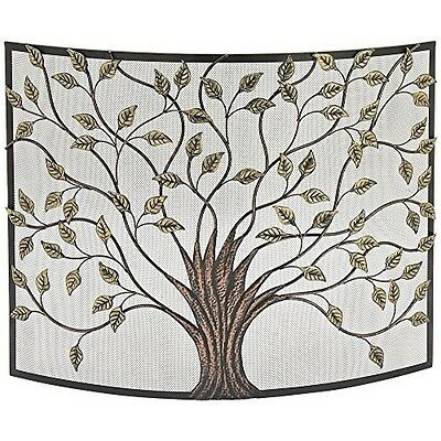 "Universal Lighting and Decor 44543 Tree of Life Iron Metal 33"" High Fire Screen"