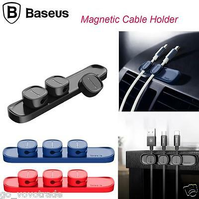 NEW Magnetic Cable Clips Cable Holder Desktop Cable Clip Cord Wire Management