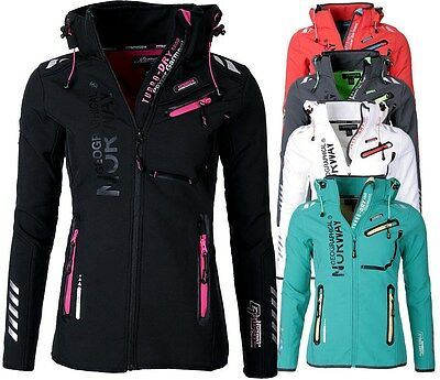 GEOGRAPHICAL NORWAY DAMEN SOFTSHELL JACKE REGEN Übergangs jacke Outdoor REVEUSE
