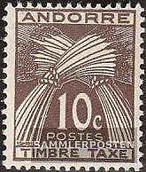 Andorra-French Post P32 mint never hinged mnh 1946 Postage stamps