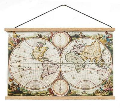 Dolls House Ancient World Map Wall Hanging Chart 1:12 Study School Accessory