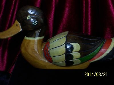 Vintage Wood Duck Hand Fabricated And Painted Folk Art Signed