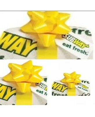 $300.00 Subway Gift Card - Mail Delivery