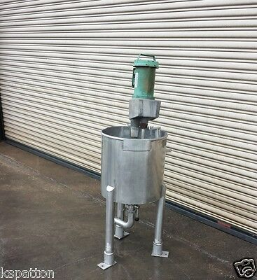 20 Gallon SS Slurry Mixing Tank with coned bottom, Processing Machinery