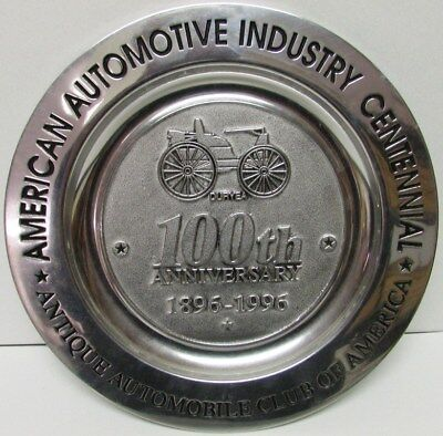 1996 AACA 100th Anniversary Commemorative Plate American Auto Industry Duryea
