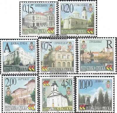 Serbian Republic bos.-h 111-118 mint never hinged mnh 1999 Cityscapes