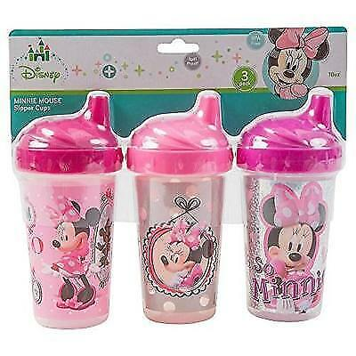Disney Minnie Mouse Sippy Cups, Pink, 3 Count New