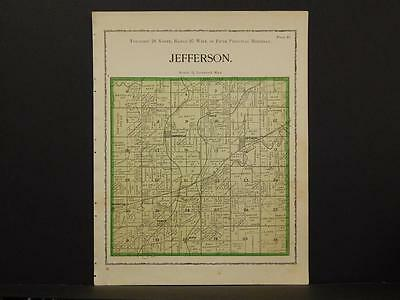 Iowa Warren County Map Jefferson Township 1902  W2#21