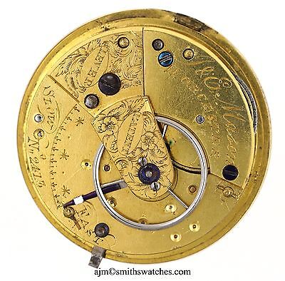 J & E Mason Worcester Patent Lever English Fusee Movement Spares R297
