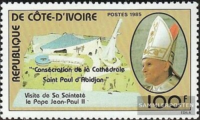 The Ivory Coast 872 mint never hinged mnh 1985 Pope Johannes Paul II.