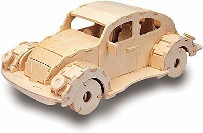 VW Beetle - QUAY Woodcraft Car Construction Kit Wooden 3D Model Kit M011 Age 7+
