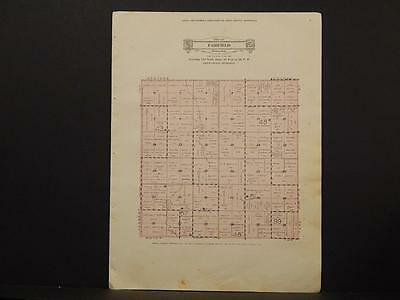 Minnesota Swift County Map Fairfield Township 1931 Y6#64