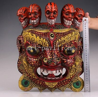 Huge Collection Rare Wood Carving Statues Exorcism Shaman Masks Vintage Collecta
