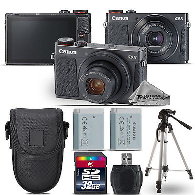 Canon PowerShot G9 X Mark II Digital DIGIC 7 Camera + Extra Battery - 32GB Kit