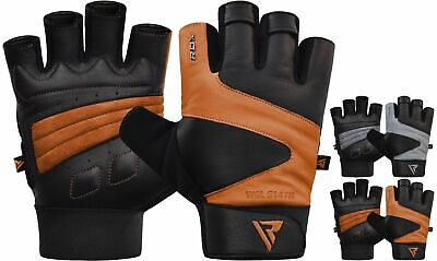 RDX Weight Lifting Gloves Gym Training Fitness Workout Bodybuilding Straps CA