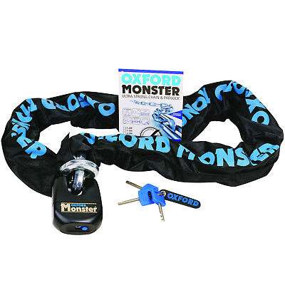 Oxford Monster Motorcycle Motorbike Bike Chain And Lock 2.0M 14Mm Shackle