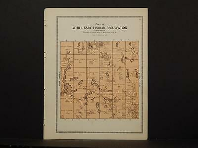 Minnesota Clear Water County Map White Earth Indian reservation 1912 Y7#01