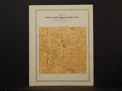 Minnesota Clear Water County Map White Earth Indian reservation 1912 Y7#02