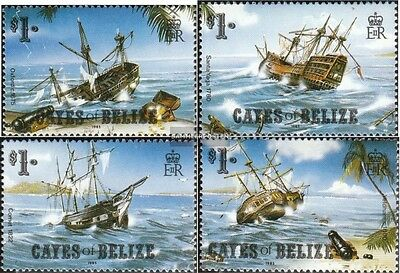 Cayes Of belize 26-29 (complete.issue.) unmounted mint / never hinged 1985 Shipw